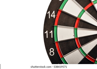 Isolated dart board on a white background