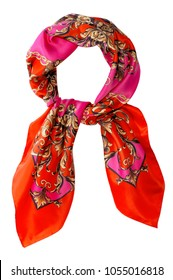 isolated decorative scarf