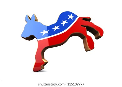Isolated Democrat Party Symbol