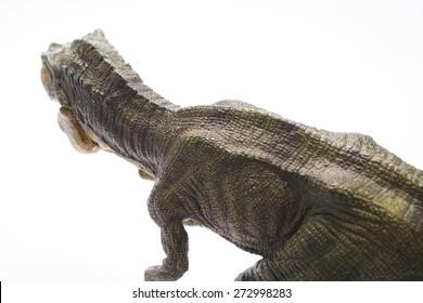 Isolated dinosaur model in white background