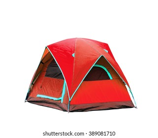 Isolated dome tents with clipping path