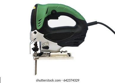 Isolated electric jig saw on a white background