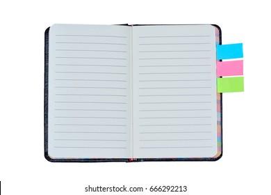 Isolated empty agenda on white background
