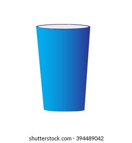 isolated empty blue cup raster illustration