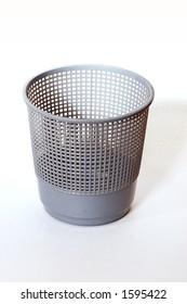 isolated empty dustbin