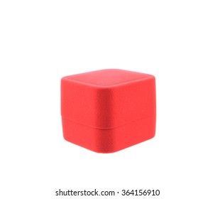 Isolated empty red box on white background