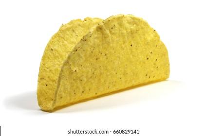 Isolated empty taco shell