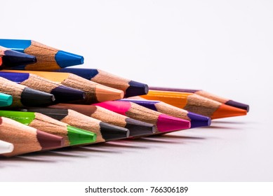 Isolated end point of a coloring pencil