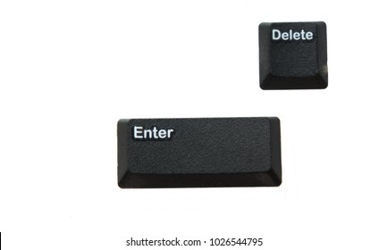 isolated enter and delete botton on white background