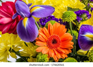 Isolated exotic floral bouquet