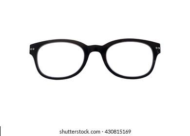 isolated eyeglass frames on white background