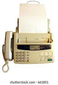 Isolated  fax machine