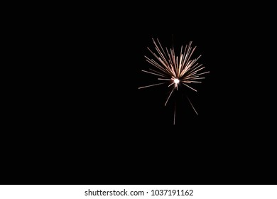 Isolated Firework explosion with vivid colors