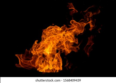 Isolated flame on a black background