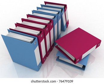 Isolated folders for papers on a white background