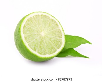 isolated fresh lime