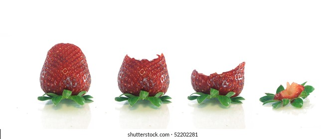 Isolated fruits - Strawberries on white background -
