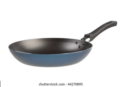 Isolated frying pan on a white background
