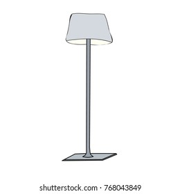 isolated furniture floor lamp