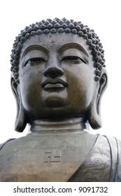 isolated giant budha statue hong kong
