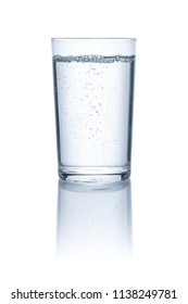 Isolated glass with water
