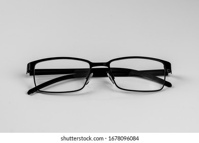 Isolated glasses on the table