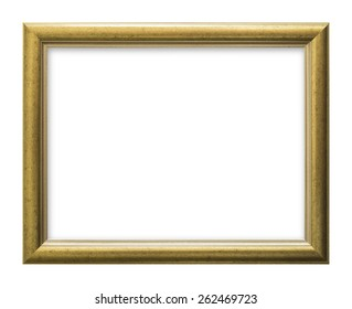 Isolated gold color frame