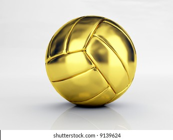 isolated gold volley ball