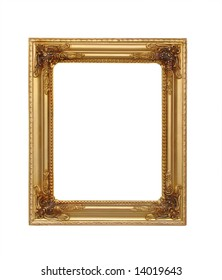 isolated golden rectangle frame for picture