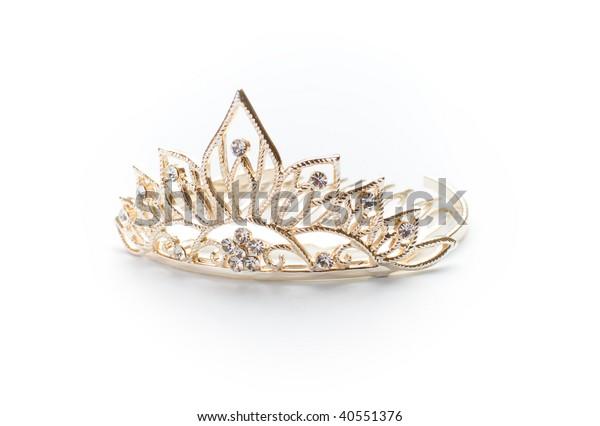Redondear a la baja Indomable banda  Tiara dorada, corona o diadema aislados : Foto de stock (editar ahora)  40551376