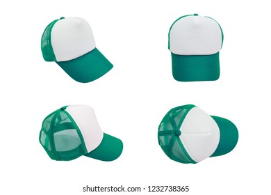 isolated green cap with blank space for logo mock up