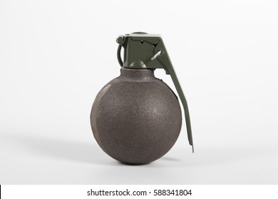Isolated grenade on white background.