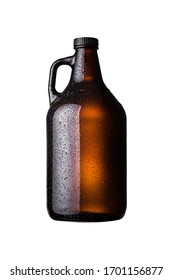 Isolated growler on white background