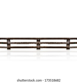 isolated grunge wooden fence