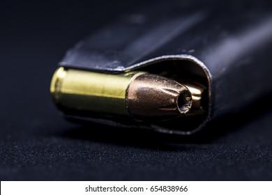 isolated gun magazine
