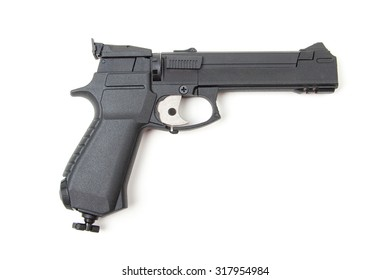 Isolated gun on white background