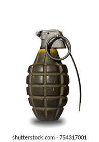 isolated hand bomb with white background
