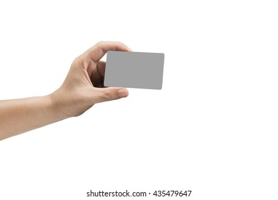 isolated Hand holding Credit card