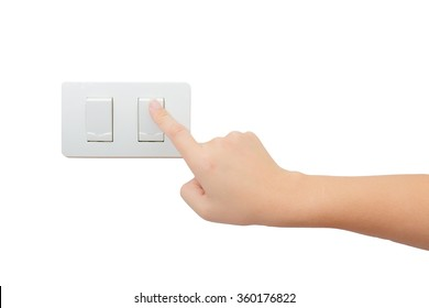 Isolated hand press turn on/off electrical switch
