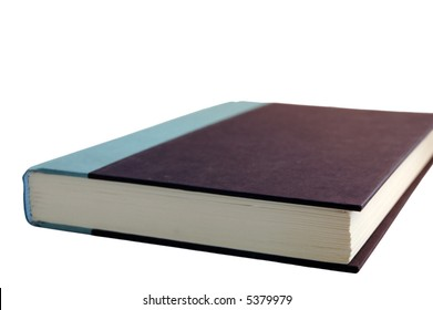 Isolated hard-cover book on white background