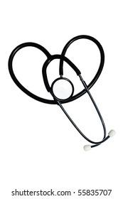Isolated Heart Shaped Stethoscope