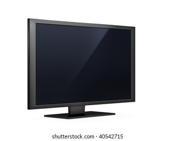 isolated high end silver flat LCD television
