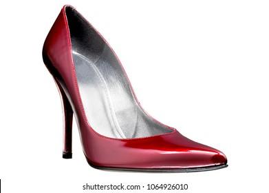 isolated high heel pump shoe