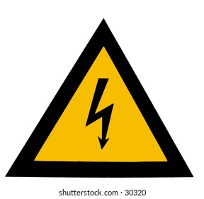 Isolated high voltage sign