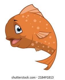 Isolated illustration of a fish