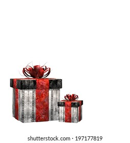 isolated illustration of gifts