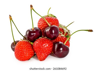 Isolated image of berries closeup
