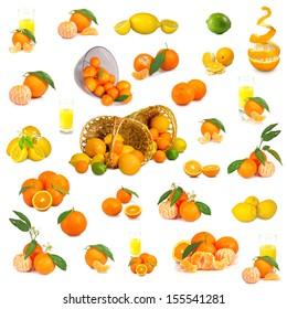 Isolated image of citrus on white background