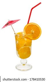 isolated image of cocktail on white background