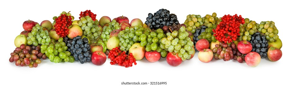 Isolated image of different fruits closeup